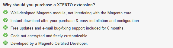 XTENTO Guarantee